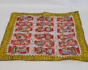 Vintage Silk Scarf, Handerkerchief, Carol Stanley Silk Scarf