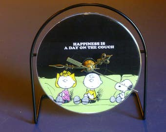 Happiness  Recycled CD Clock Art
