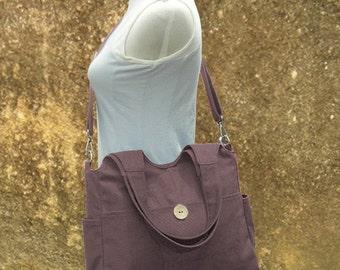 March Sale 10% off Brown diaper bag, canvas tote purse, womens purse, shoulder bag,  crossbody messenger bag for men and women