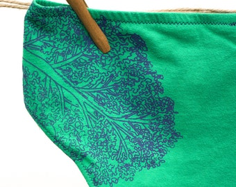 Kale Yeah! Women's Handmade Underwear - Women's 8 - Ready to Ship
