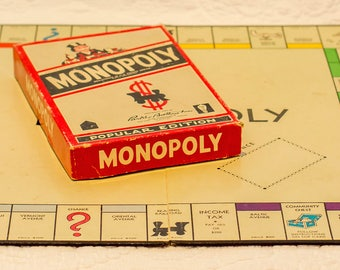 """1954 """"Popular Edition"""" monopoly COMPLETE!"""