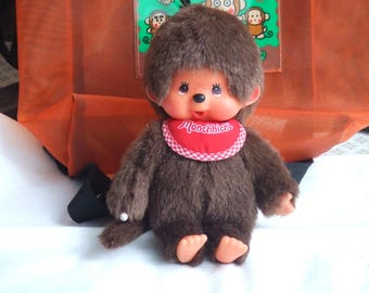 Vintage 7 1/2 Inch Tall Monchichi. Monchhichi from Sekiguchi Co. Ltd. Probably from the 1990s. Excellent Condition.