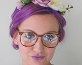 Vintage BROWN AMBER Glasses..new old stock. classic. groovy. twiggy. mod. retro glasses. librarian. secretary. woodstock. tort. mainstreet