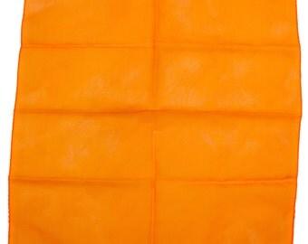 Orange Nylon Scarf, Vintage Bandana