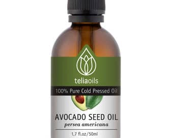 Avocado Oil - 100% Pure Cold Pressed organic avocado oil, 50 ml / 1.7 fl oz