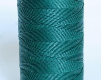 waxed nylon cord, macrame cord, waxed polyester, blue, DARK TEAL, 0.8 mm. flat braid, jewelry making, friendship bracelet, flat braid, cord