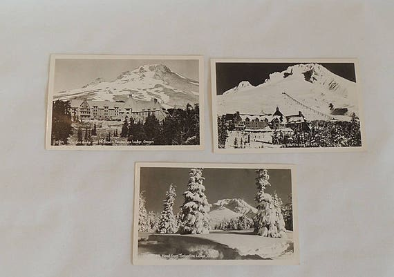 3 Vintage RPPC By Sawyers Postcards.. Timberline Lodge, Mt Hood Oregon & Ski Lift