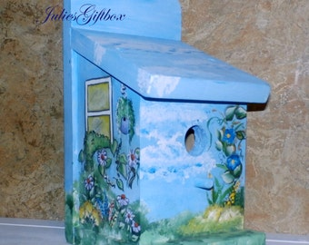 Hand Crafted Birdhouse Indoor/Outdoor - Bird House-Hand Crafted In The U.S.A