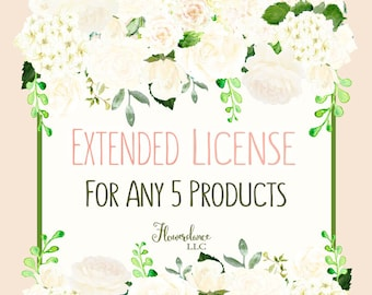 EXTENDED LICENSE / Sell 1,000 items or fewer on 5 Products.