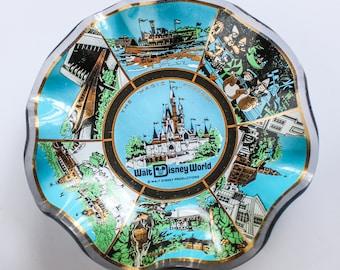 Vintage Disney World Dish, Vintage Disney Dish, Disney World Souvenir Dish, Vintage Disney Dish, Vintage DisneyWorld, Walt Disney