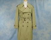 Vintage 60s 70s Men's John Weitz Harbormaster Trench Coat w/ Zip-Out Lining, Sz 40