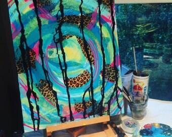 Abstract Cheetah (16x20)