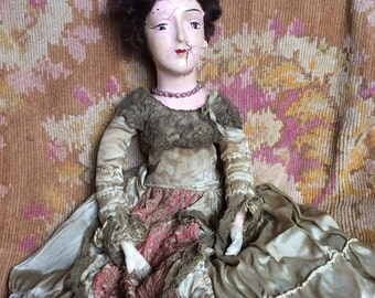 Sister Had Some Heavy Issues Antique Boudoir Doll