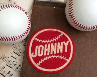 Get It For Johnny Vintage Felt Baseball Name Patch