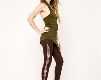 Braided Leggings- Yoga Leggings- Tribal Leggings-Pixie Pants- Festival Gear