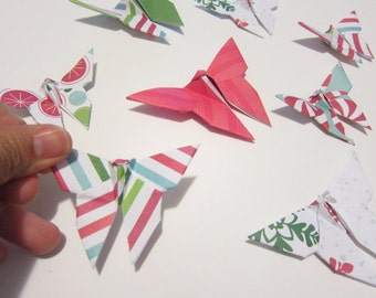 SALE LAST SET 20 Assorted Holiday Origami Butterflies