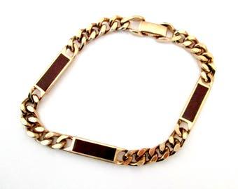 Chain Bracelet Enamel Bars Vintage Avon 1980s Fashion Jewelry
