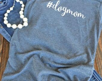 dogmom t-shirt  - hashtag dog mom woman's graphic t-shirt