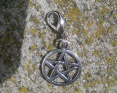 Ayla's Bead Creations Witch Wicca pentacle charm clip on