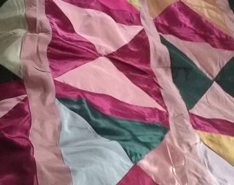 Queen Satin Handmade Quilt