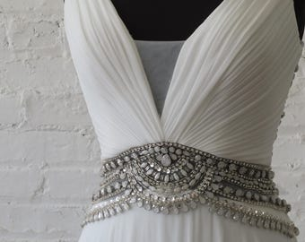 Flapper wedding dress 1920s art deco Gatsby bridal gown Bling