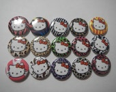 15 Rainbow Animal Print Hello Kitty Inspired Flatback Flat Backs