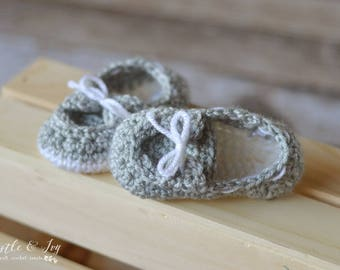 Baby Boat Booties Crochet Pattern PDF DOWNLOAD