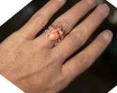 Adjustable ring, stone ring, Sea Sediment Jasper stone ring, silver ring, bronze ring, copper ring