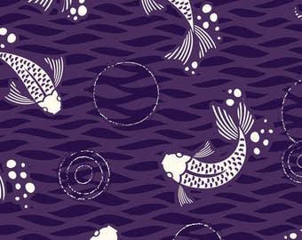 Cloud9 Organic Fabrics - Koi - Don't be Koi