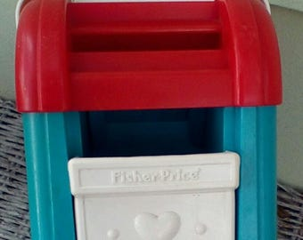 Vintage 1989 Fisher Price Mail Box 1025.  Made in USA.  Y-307