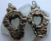 Filligree Heart Droppers - Gold Lustre