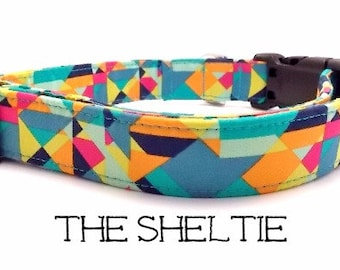 Bright Dog Collar, The Sheltie, Colorful Dog Collar, Cute Dog Collar, Dog Gift, Puppy Gift, Girly Dog Collar, Matching Leash Available