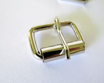 32 Wire-Formed Nickel Plated Roller Pin Buckles - 1 inch / 26 mm