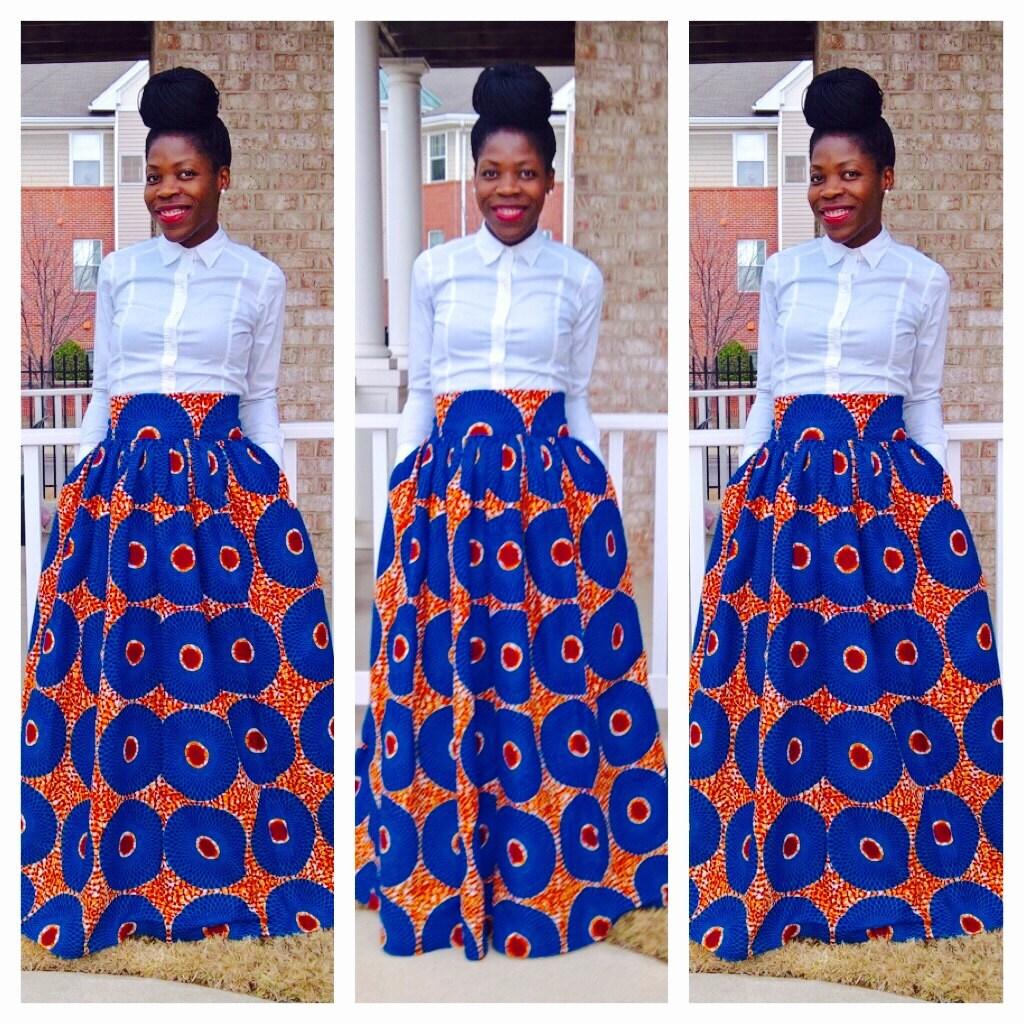 Sky Blue African Ankara Maxi African clothing African Maxi