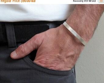 Mens cuff, Sterling silver cuff , Matte cuff bracelet, Mens jewelry