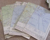 """Vintage Aviation Pilot's Sectional Flight Plan Map FAA 20"""" x 30"""" - Many to Choose From!!! (05)"""