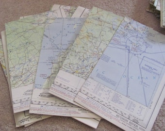 "Vintage Aviation Pilot's Sectional Flight Plan Map FAA 20"" x 30"" - Many to Choose From!!! (05)"