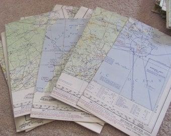 "Vintage Aviation Pilot's Sectional Flight Plan Map FAA 20"" x 30"" - Many to Choose From!!! (03)"