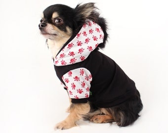 Dog Clothes red skull Hoodie for Dogs mohawk dog sweater Clothes for Pets