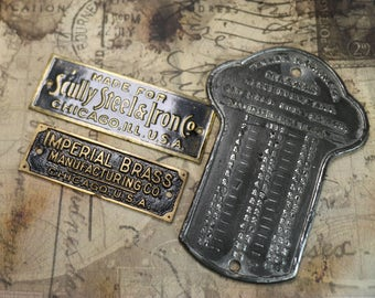 1 Antique Company Name Plate