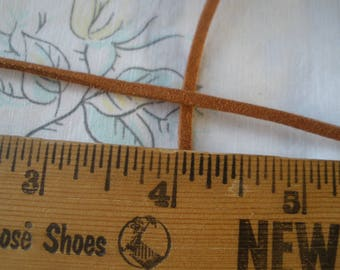 3mm Faux Suede Cord 5 yards Chamude String Brown for bracelets necklace crafts 3MM Eco Boho vegan leather choose yardage