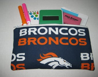 Broncos Football Team Pencil Case