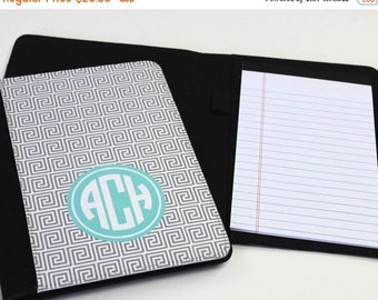CLEARANCE SALE Personalized Notebook - Monogrammed Folio - Large Notebook - Monogrammed Gift - Graduation Gift - Teacher Gift