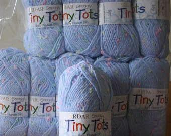 Sirdar Snuggly Tiny Tots Baby Yarn Pale Blue and Pink - Double Knitting Acrylic/Polyester Blend -- 50g Ball, 137 meters/150 yards
