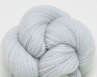 Light Blue Recycled Cashmere Lace Weight Yarn, CSH00260