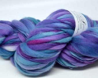 Handspun Thick and Thin Super Bulky Chunky Merino Wool Yarn Pop Rocks