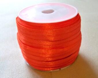 "Orange Satin Ribbon-Targerine-1/8""-10 yds."