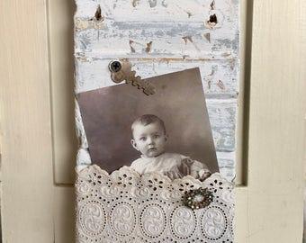 Vintage Architectural Salvage Necklace Display / Vintage Plinth Block / Wall Art