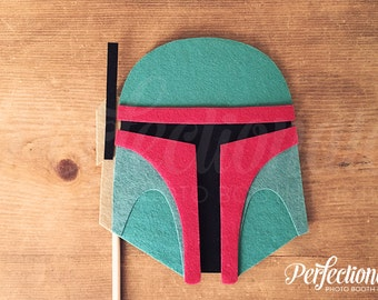 Boba Fett Helmet Photo Prop Ready to Ship | Star Wars Photo Booth Prop