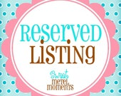 Reserved Listing - For Jenifer
